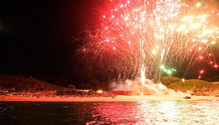 Le feu d'artifice des Grands Sables